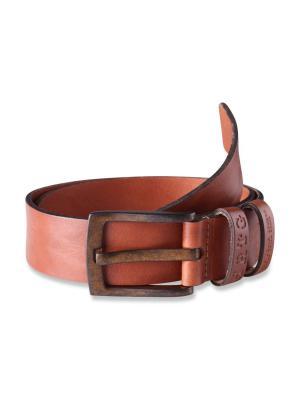 Pepe Jeans Balton Beaten Leather Belt cognac