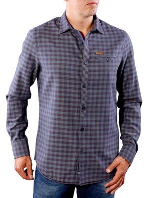 PME Legend Shirt Check Sterling autumn grape