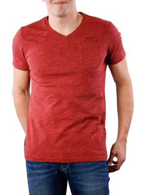 PME Legend V-Neck PM Moulinee Jersey pomegranate