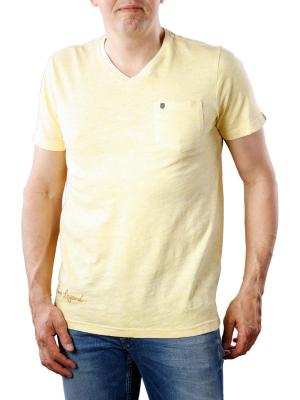 PME Legend SS V-Neck Slub Jersey yellow