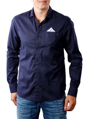 Scotch & Soda Classic Oxford Shirt detachable pocket dark