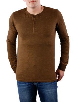 Scotch & Soda Longsleeve Grandad T-Shirt military melange