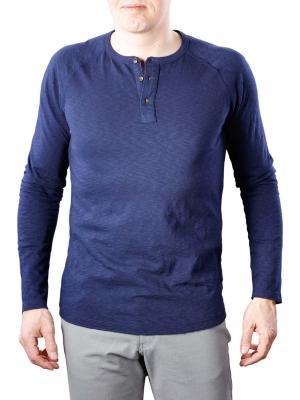Scotch & Soda Longsleeve Grandad T-Shirt denim blue
