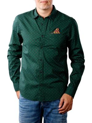 Scotch & Soda Classic Shirt Chest pocket dark green
