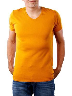 Scotch & Soda Classic V-Neck T-Shirt logo print yellow