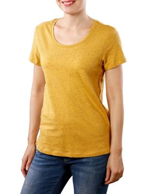 Maison Scotch SS Linen T-Shirt with tape detail