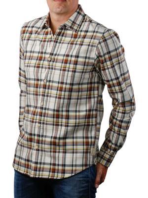 Scotch & Soda Long Sleeve Shirt In Worker Styling 0217