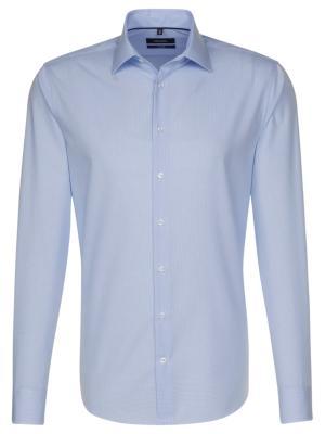 Seidensticker Hemd Tailored Fit Kent bügelfrei check  ltblue