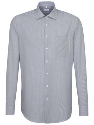 Seidensticker Shirt Regular Kent non iron checked blue