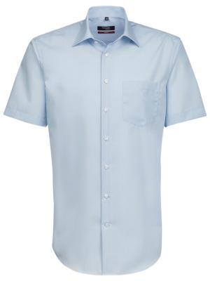 Seidensticker Hemd Modern Fit Kent kurzarm bügelfrei lt blue