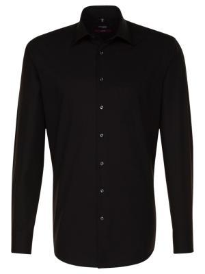 Seidensticker Hemd Regular Fit Kent bügelfrei black