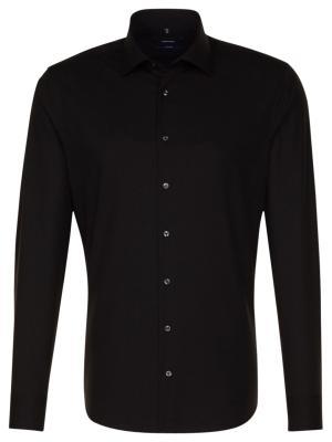 Seidensticker Hemd Shaped Fit Kent bügelfrei black