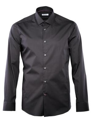 THE BASICS Hemd Body Fit Hai bügelleicht black