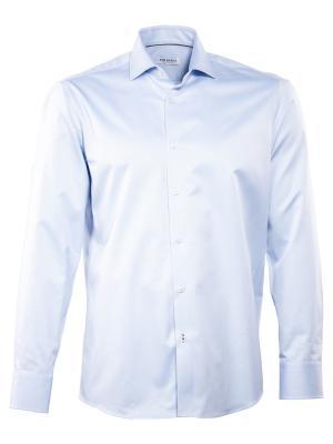 THE BASICS Hemd Modern Fit Hai bügelleicht blue regular