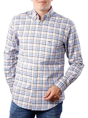 Fynch-Hatton Coloured Combi Shirt taupe blue