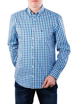 Fynch-Hatton Coloured Fond Check Shirt azure