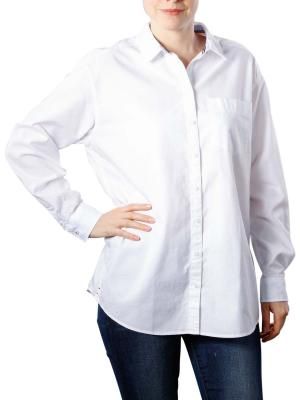 Tommy Jeans Textured Boyfriend Shirt bright white