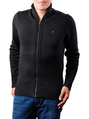 Tommy Hilfiger Chunky Cotton Zip Through jet black