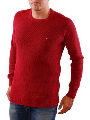 Tommy Jeans Basic CN Sweater rhuarb