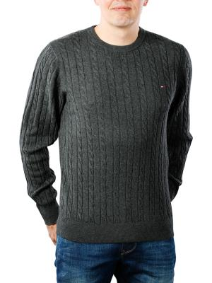 Tommy Hilfiger Classic Cotton Blend Cable Crew charcoal