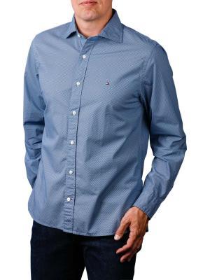 Tommy Hilfiger Fake Solid Print Shirt soft blue maritime