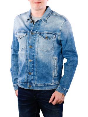 Tommy Jeans Regular Trucker Jacket wilson mid blue stretch