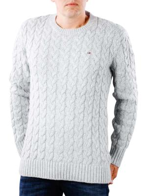 Tommy Jeans Cable Sweater light grey heather