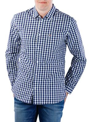 Tommy Jeans Gingham Shirt classic white/black iris