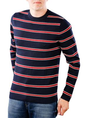Tommy Hilfiger Regimental Classic Stripe Crew sky captain