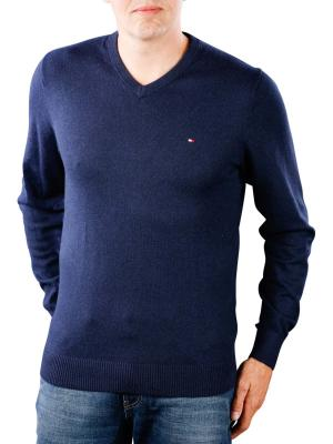 Tommy Hilfiger Pima Cotton Cashmere V sky captain heater