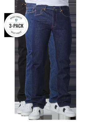 Levi's 501 Jeans Straight Fit stone/black/rinse Trio
