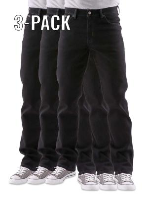 Wrangler Texas Stretch Jeans black overdyed 3-Pack