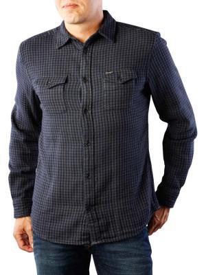 Wrangler Flap Shirt dark indigo