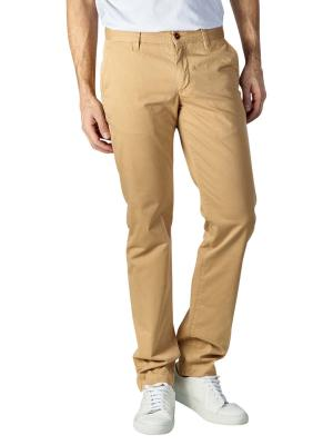 Alberto Lou Pants Slim Compact Cotton yellow