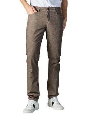 Alberto Pipe Jeans Slim Fit Micro Check beige