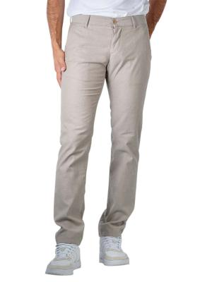 Alberto Lou Pants Slim Smart-Cotton beige