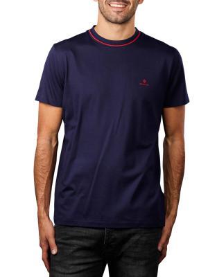 Gant Smart Casual T-Shirt crew neck classic blue
