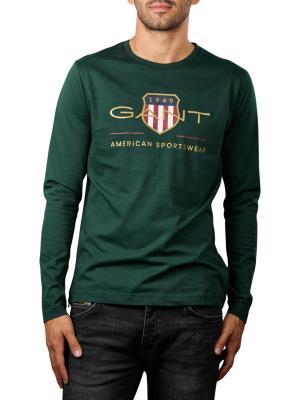 Gant Archive Shield T-Shirt Longsleeve tartan green