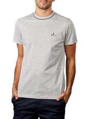Gant Smart Casual T-Shirt crew neck light grey melange
