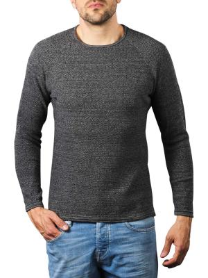 Gabba Lamp O-Neck Pullover dark grey melange