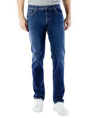Alberto Pipe Jeans Slim Bi Stretch Denim navy