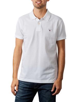 Gant Original Slim Pique SS Rugger Polo Shirt white