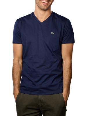 Lacoste T-Shirt Short Sleeves V Neck 166