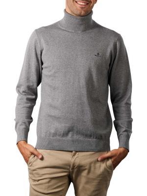 Gant Classic Cotton Pullover Turtle Neck dark grey melange