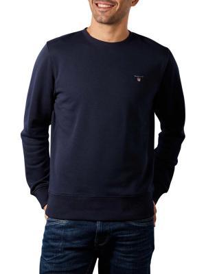 Gant Original Sweater Crew Neck evening blue