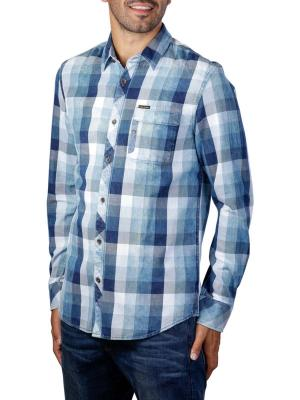 PME Legend Long Sleeve Shirt Yarndye indigo check