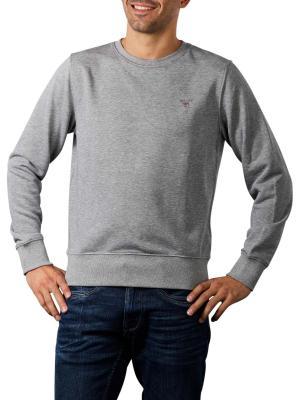 Gant Original Sweater Crew Neck grey melange