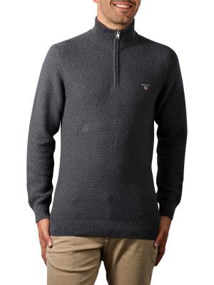 Gant Triangle Texture Halfzip Pullover antracit melange