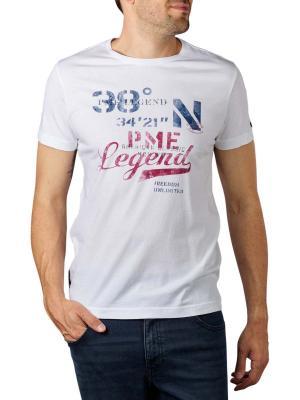 PME Legend Short Sleeve T-Shirt single Jersey  bright white
