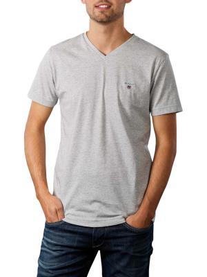 Gant Original Slim T-Shirt V-Neck light grey melange